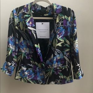 Elizabeth and James Silk Floral Blazer